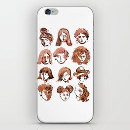 girl face iPhone Skin