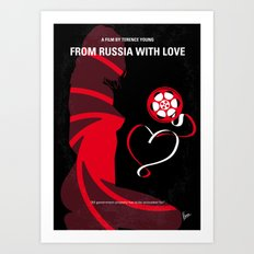 No277-007 My from Russia with love minimal movie poster Art Print