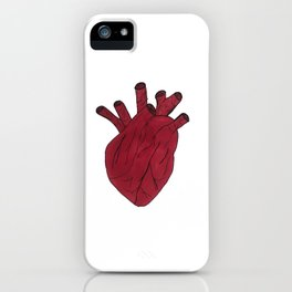 Anatomical heart white iPhone Case