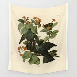 Vintage Bird Print - Birds of America - 177 White-crowned Pigeon (1838) Wall Tapestry