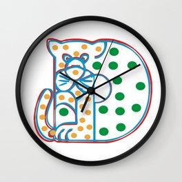 Cat in original design colors Wall Clock