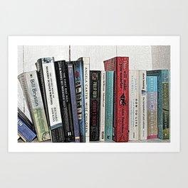 Book shelf love- we are what we read Art Print
