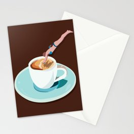 Monday mood. First. I need coffee Stationery Cards