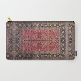 Antique Persian Red Rug Carry-All Pouch