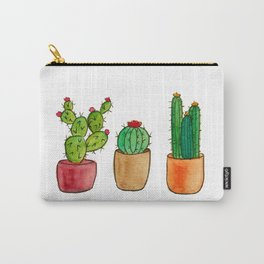 Three Little Cacti Carry-All Pouch