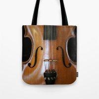 violin Tote Bags featuring Violin by Päivi Vikström