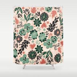 Succulent flowerbed Shower Curtain