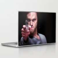 sam winchester Laptop & iPad Skins featuring Sam Winchester by thefluidlines
