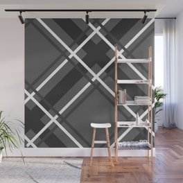 Jumbo Scale Men's Plaid Pattern Wall Mural