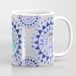 Mandala Pattern blue and turquoise Coffee Mug
