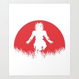Broly Dragon Ball Super FighterZ Legendary Super Saiyan SSJ Goku Vegeta Art Print