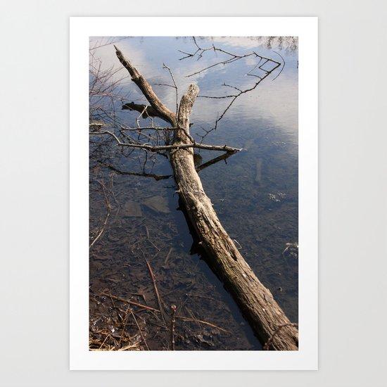 The Log Art Print