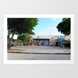 Colorful graffiti in Miami Art Print