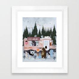 ice cream time Framed Art Print