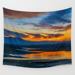 Saddleback at Sunrise from the Back Bay Wall Tapestry