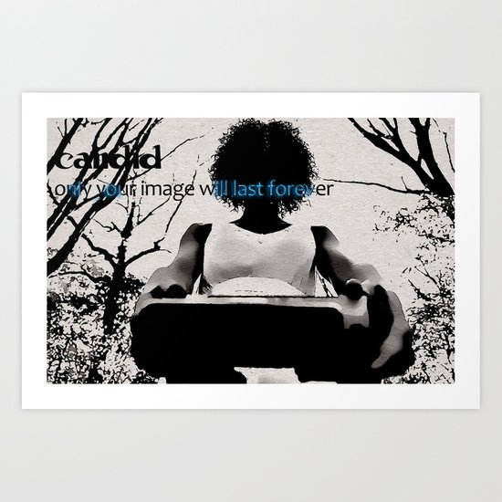 Candid #3 *(With text) Art Print