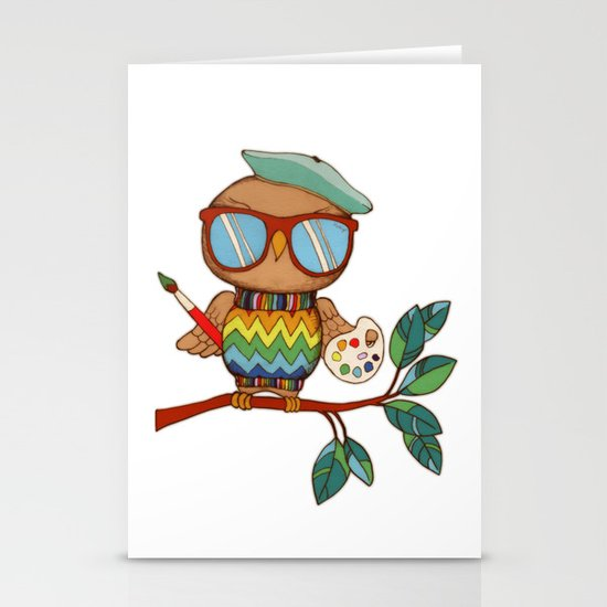 Little Wise Artist Stationery Cards