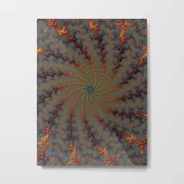 Tunnel Vision - Fractal Art Metal Print