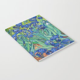 Vincent Van Gogh Irises Painting Notebook