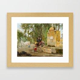Bernardo Ferrandiz Badenes,  Charity and Love of God 1871 Framed Art Print