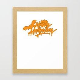 Halloween Scary Kids Gift T-Shirt Framed Art Print