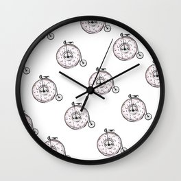 Donut Ride My Bicycle Wall Clock