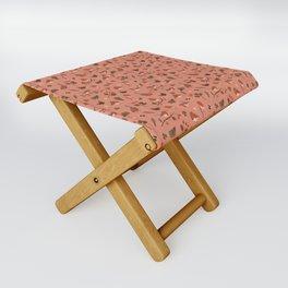 Robin Pink Pattern Folding Stool