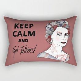Keep Calm and Get Tattooed Rectangular Pillow