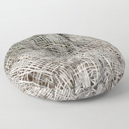 textured jute fabric for background and texture Floor Pillow