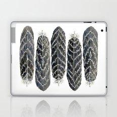 Black Stripe Feathers Laptop & iPad Skin