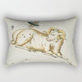 (1831) astronomical chart  of Aries and Musca Borealis Rectangular Pillow