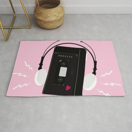 I hear synthwave music Rug