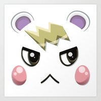 Animal Crossing Marshall Art Print