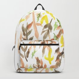170814 Leaves Watercolour 4 Backpack