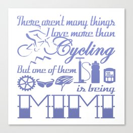 Cycling Mimi Canvas Print