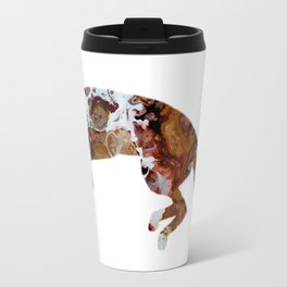 Jumping Fox Abstract Art Digital Art Fluid Image Travel Mug