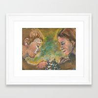 chess Framed Art Prints featuring Chess by Spinning Daydreams