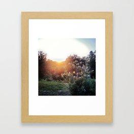 SUN HIDING IN TEXAS Framed Art Print