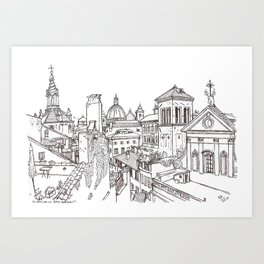 Rome Apartment View, Italy Art Print