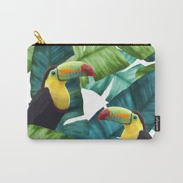 Toucans Tropical Banana Leaves Pattern Carry-All Pouch