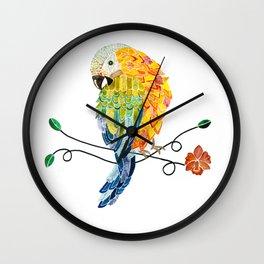 Bird of Costa Rica, hybrid macaw Wall Clock