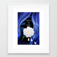 looking for alaska Framed Art Prints featuring Looking For Alaska  by Lunah
