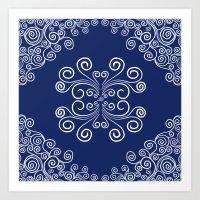 blueprint Art Prints featuring Blueprint by Hind686