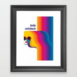 Lady Rainbow Framed Art Print