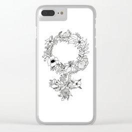 Feminist Flower  2.0 Clear iPhone Case