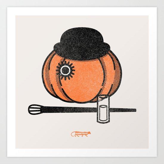 A Clockwok Pumpkin Art Print