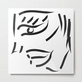 profile minimal sketch Metal Print