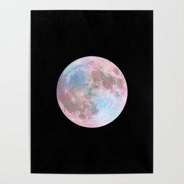 Iridescent Dark Moon Poster