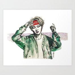 BTS V (2) Art Print