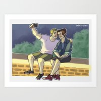 stucky Art Prints featuring stucky fourth of july 2 by maria euphemia